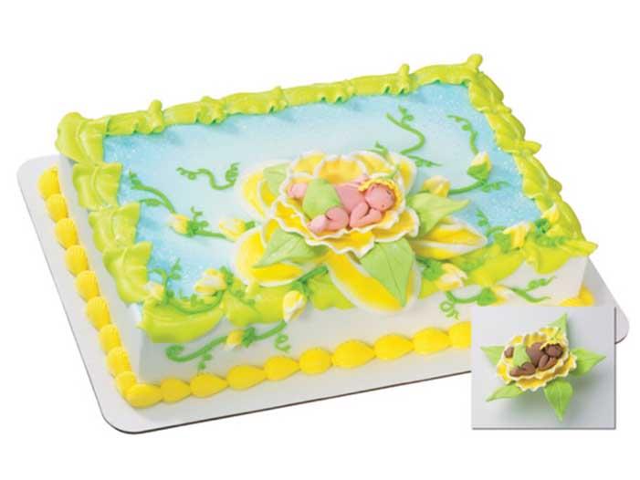 Baby Bud Cake Design