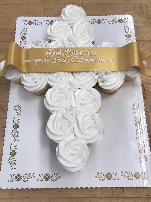 Cross Cupcake Cake