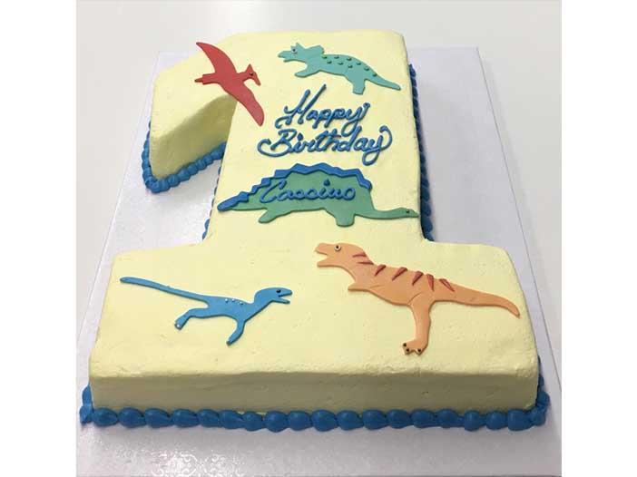 Fondant Dinosaur Cake Design