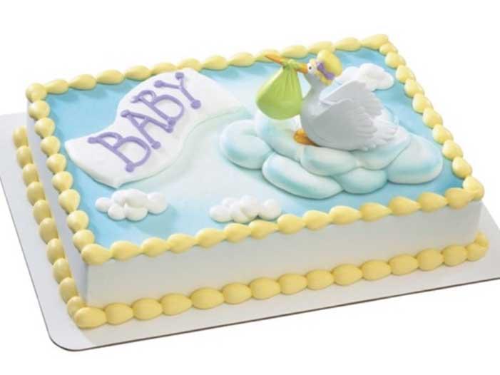 Special Delivery Stork Cake Design