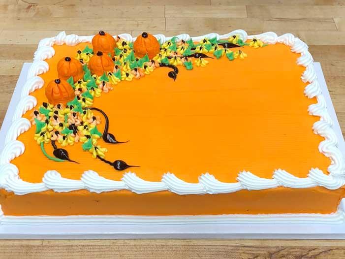 Pumpkin and Flowers Design
