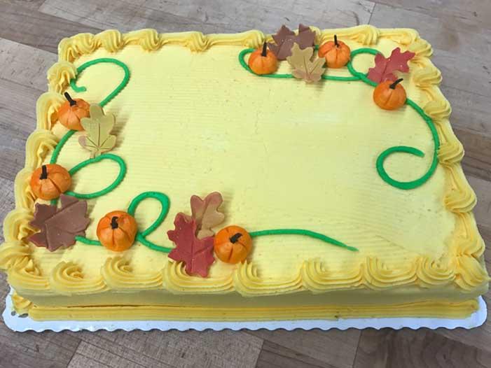Pumpkin and Leaves Design