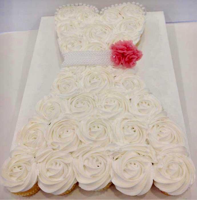 Sweetheart Bridal Cupcake Cake