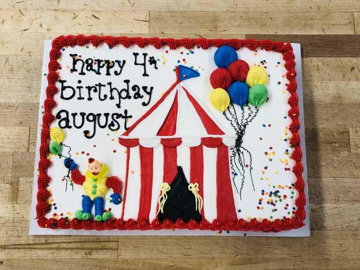 Circus Tent Cake Design