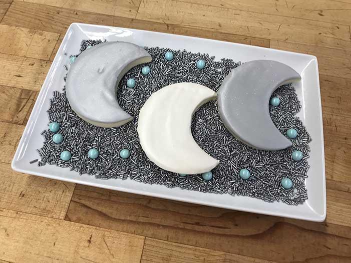 Iced Moon Cookies