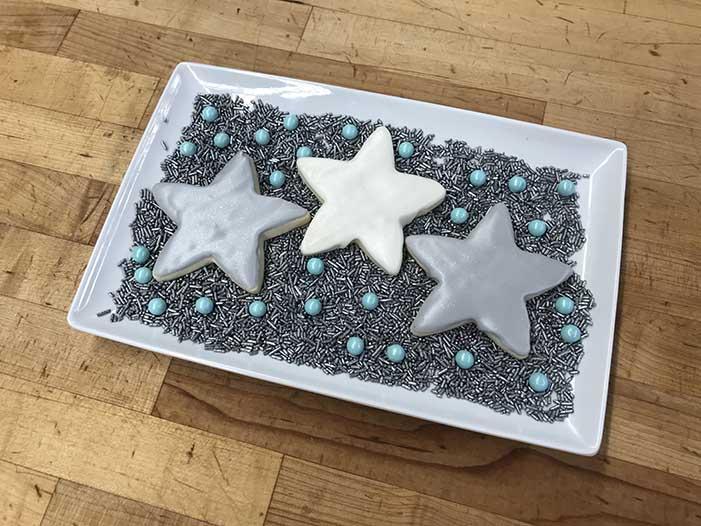 Iced Star Cookies