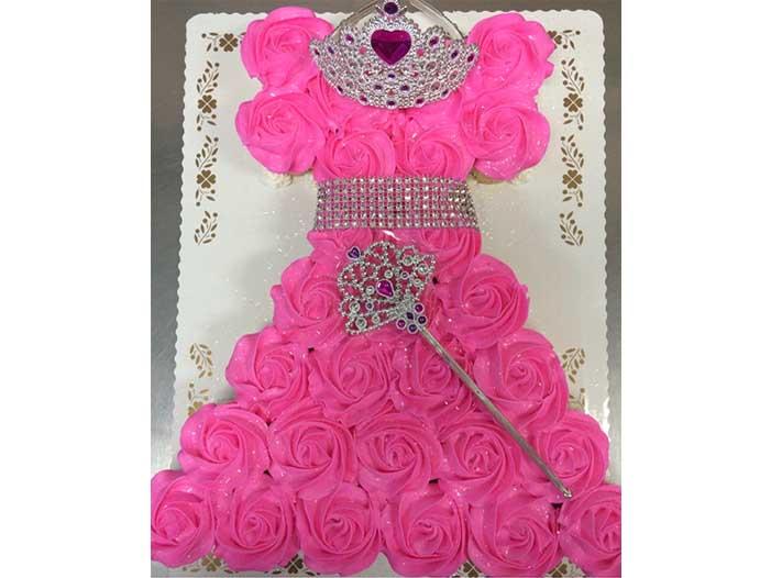 Princess Dress Cupcake Cake