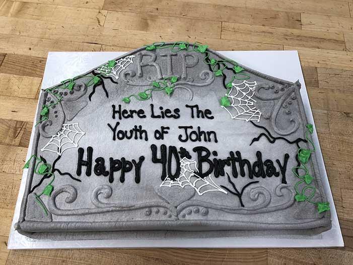 Tombstone Form Cake