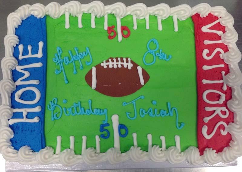 Football Field Cake Design