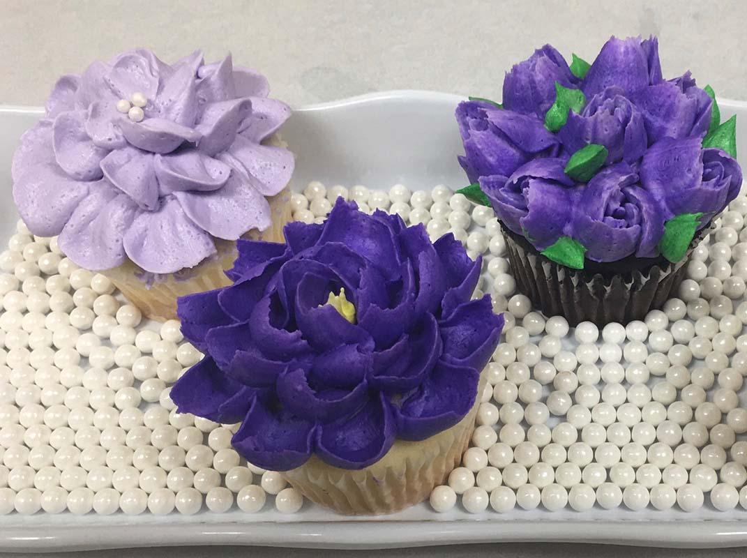 Spring Flower Cupcakes Designs